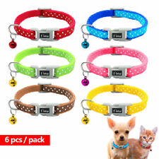 6/12/24pcs Polka Dots Pet Puppy Cat Kitten Small Dog Collar with Bell Chihuahua