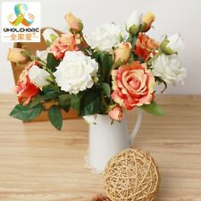 Artificial Rose Wedding Flowers Bouquet Bud Home Party Decor Silk Decoration New
