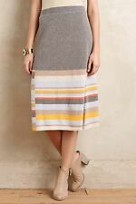 NIP Anthropologie Striped Midi Sweater Skirt by Moth Sz M $118