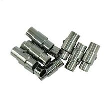 10pcs Metal Magnetic Clasps Jewelry Clasp Leather Connector Black 4mm 5mm 6mm