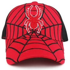 Youth Size Boy's Spider Web Embroidered Structured Baseball Cap - FREE SHIPPING