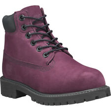Timberland 6 Inch Premium Waterproof Dark Red Nubuck Youth Ankle Boots