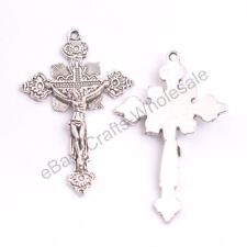 Wholesale 10Pcs Tibetan Silver Cross Charms Pendants Jewelry 48X37MM D353