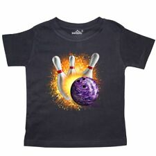 Inktastic Bowling Strike Toddler T-Shirt Team Ball Pins Sports Recreation Tees.