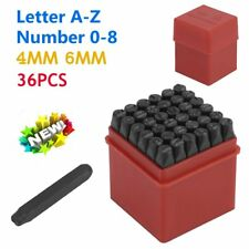 36pc Stamps Punch Set Case Steel Metal Die Tool Craft Letters Alphabet Number