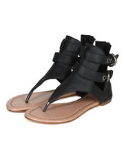 New Women Liliana Mia-4 Leatherette T-Strap Ankle Strap Buckle Flat Sandal