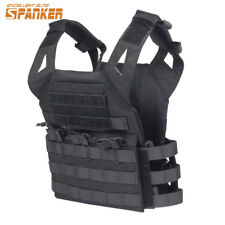 Tactical Molle Plate Carrier Vest Military Airsoft Paintball Hunting Combat Kit