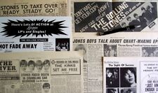 THE ROLLING STONES 1964 - 1965 CLIPPINGS LOT 12X5 out of our heads