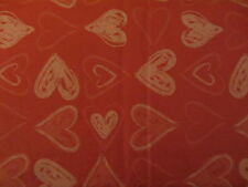 "VALENTINE'S DAY PINK HEARTS VINYL TABLECLOTH FLANNEL BACK 52"" X 70"""