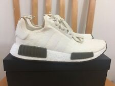 NEW Adidas NMD R1 Nomad Runner CHAMPS CQ0758 Chalk White Beige Olive Size 9 9.5