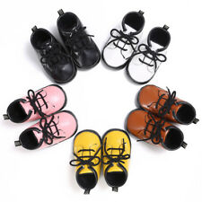 Infant Toddler Baby Boy Girl Leather Soft Sole Crib Shoes Moccasin Sneaker 0-12M