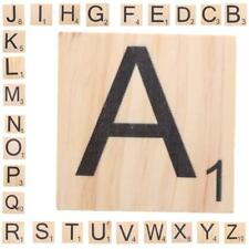 Natural Wood Puzzle Tile Letter Number For Alphabet Game Kids Xmas Gift A - Z