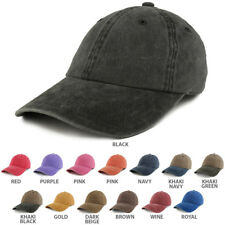 Plain Pigment Dyed Cotton Twill Unstructured Dad Hat - FREE SHIPPING