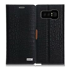 Samsung Galaxy Note 8 Case Cover Crocodile Pattern Premium Leather Wallet Flip