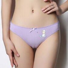 Sexy Bow Panties Cartoon Dotted Design Low Waist Triangle Print Thong For Girls
