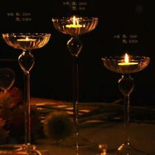 Beautiful Clear Glass Tea Light Votive Candle Holders Wedding Table Party Gift