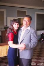 Pretty young woman dancing with mature man - 19670 vintage photo slide