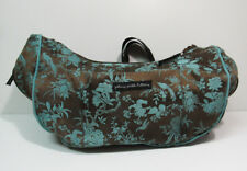 Petunia Pickle Bottom Diaper Bag Baby Chic Tapestry Brown Turquoise Floral Tote