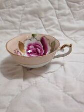 (K17) VNTG 1940's Hand Painted China Trimont Japan Delicate Rose Porcelain Cup