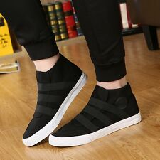 Men Sport Outdoor Sneakers Canvas High Top  Running Casual Athletic Slip on Shoe