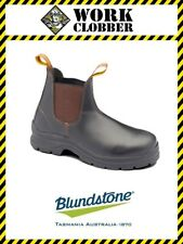 Blundstone Brown Waxy Leather Elastic Side Boot With Steel Cap 311 NEW IN BOX!