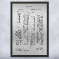 Framed Oboe English Horn Patent Print Gift Cor Anglais, Musician, Patent Print
