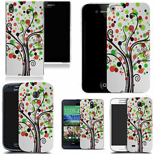 hard durable case cover for iphone & other mobile phones - green hippie tree