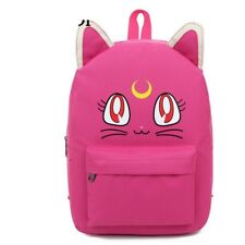 Sailor Moon Anime Canvas Backpack Large Girls Rucksack School Bag Cute Cat New