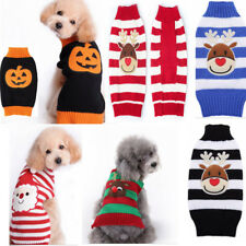 Pet Puppy Cat Dog Sweater Striped Knit Coat Apparel Clothes Christmas Chihuahua
