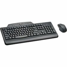 Kensington Pro Fit Media Wireless Desktop Set - USB Wireless RF Keyboard - Engli