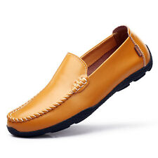 Fashion Men's Driving Casual Boat Shoes Leather Shoes Moccasin Slip On Loafers N