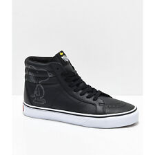 NEW! Vans x Peanuts Sk8-Hi Embossed Snoopy Black White Skate Shoes Mens Womens