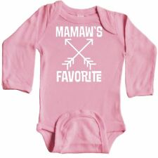 Inktastic Mamaw's Favorite Grandson Childs Gift Long Sleeve Creeper Mamaw From