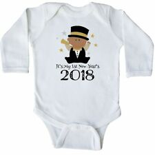 Inktastic 2018 Babys 1st New Years Long Sleeve Creeper Happy Year First Ethnic