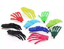 Pair Halloween Skeleton Hand Hair Clips With Aligator Fastening Stocking Fillers
