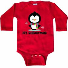 Inktastic 1st Christmas Penguin Long Sleeve Creeper Babys First Holiday Cute Hws