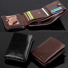 2017 New Men Genuine Leather Wallet Coin Purse Cowhide Credit Card Holder Purse