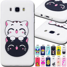 For Samsung Galaxy J7(2016) 3D Case Rubber Silicone TPU Gel Soft Skin Cover Back
