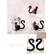 3 Type Cat Kitten Glass Mug Tea Milk Coffee Cup with Tail Shape Handle 200-300mL
