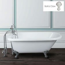 Randolph Morris 60 In Acrylic Clawfoot Tub - Rim Drillings - Ball & Claw Feet