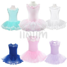 Girl Toddler Dancewear Ballet Tutu Dress Costume Kids Lace Leotard Dancer 3-14Y
