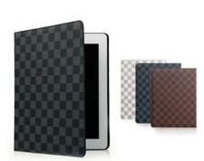 High Quality Plaid Patterns Design Leather Smart Cover Case for iPad mini1 mini2
