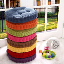 Round Corduroy Chair Seat Cushion Pad Tatami Pad Cushion for Home Office 8Colors