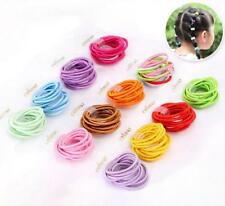 10Pcs Fluorescent Color Girl Elastic Hair Ties Band Rope Ponytail Bracelets