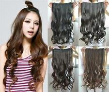 """Women One Piece Fashion 4 Colors Long Clip in Curly Wavy Hair Extension New  24"""""""