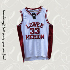 Kobe Bryant #33 Lower Merion High School Red White S-XXL Basketball Jersey