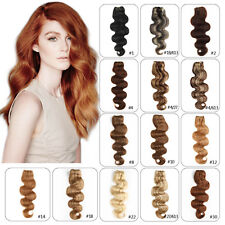 Full Head Remy Clip in 100% Real Human Hair Extensions Body Wave Hair 14-24inch