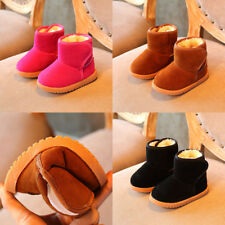 Infant Toddler Baby Girls Boots Boys Kids Winter Thick Snow Boots Fur Shoes New