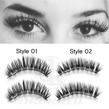 Magnetic False Eyelashes 3D Natural Eye Lashes Extension Handmade 4Pcs/2 Pairs