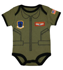 Flight Body Suit Future Pilot USA Flag Infant One Piece - Free Shipping
